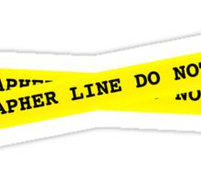 Photographer Line Do Not Cross Sticker