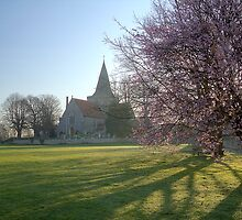 Early Spring Morning in Alfriston by Gary Gurr