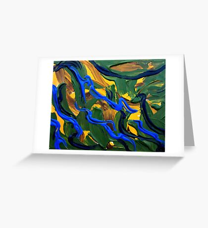 Abstract Landscape Art  Greeting Card