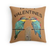 HAPPY VALENTINES DAY bee- eaters Throw Pillow