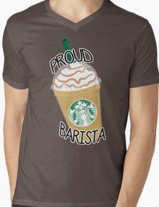 Proud Barista Mens V-Neck T-Shirt