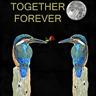Together Forever Kingfisher by Eric Kempson