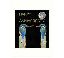 HAPPY ANNIVERSARY Kingfishers Art Print