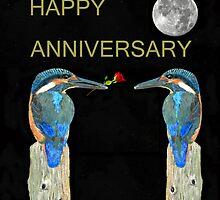 HAPPY ANNIVERSARY Kingfishers by Eric Kempson