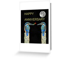 HAPPY ANNIVERSARY Kingfishers Greeting Card
