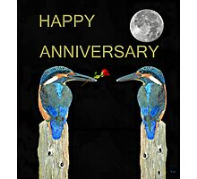 HAPPY ANNIVERSARY Kingfishers Photographic Print