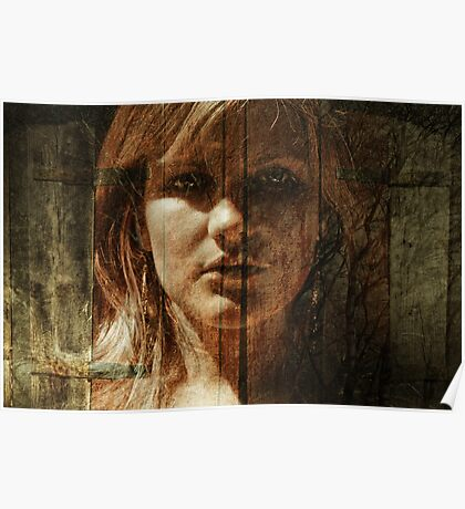 Face Within Shutters Poster