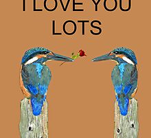 I Love You Lots kingfishers by Eric Kempson
