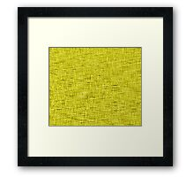QUANTUM FIELDS ABSTRACT [4] YELLOW [1] Framed Print