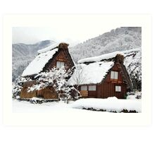 White Christmas-Shirakawa village,Japan Art Print