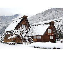 White Christmas-Shirakawa village,Japan Photographic Print
