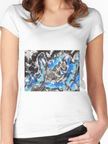 Abstract Mixed Media Art  Women's Fitted Scoop T-Shirt