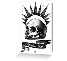 misfit skull Greeting Card