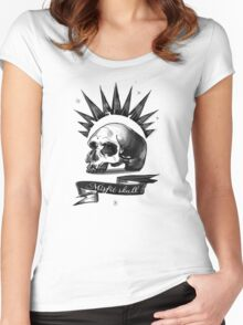 misfit skull Women's Fitted Scoop T-Shirt