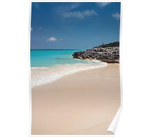 Beach, Rose Island, Bahamas Poster