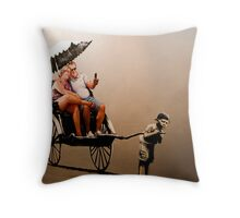 Banksy - Tourist Throw Pillow