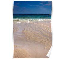 Receding Wave, Rose Island, Bahamas Poster