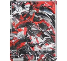 Dramatic Red, Black & White Design  iPad Case/Skin