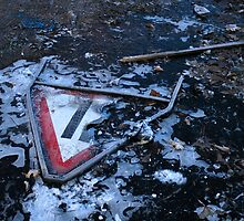 A Sign of Winter - Antwerp Mansion, Manchester by Kris Extance