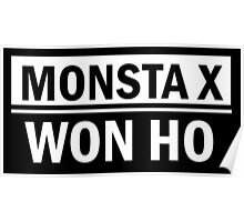 MONSTA X WON HO Poster