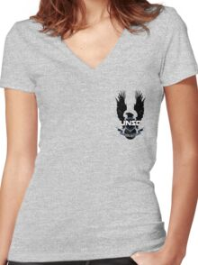 UNSC logo Women's Fitted V-Neck T-Shirt