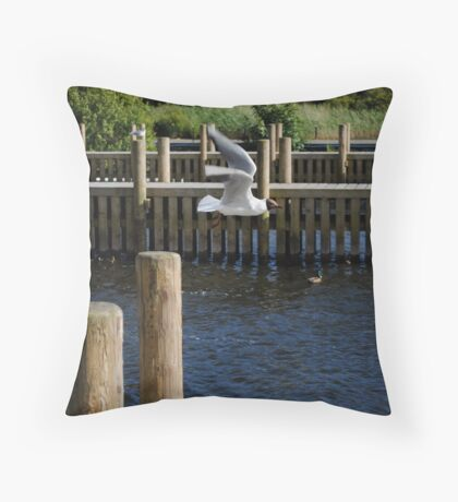Escape of Flight - Lake Windermere  Throw Pillow