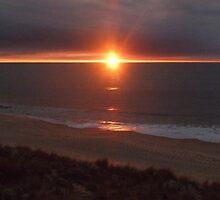 Blood sunset in Western Australia by Jenrenhen
