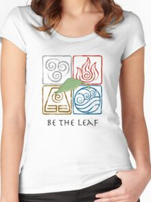 Be The Leaf Women's Fitted Scoop T-Shirt
