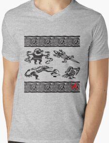 aztec gods tshirt for rogers bros construction Mens V-Neck T-Shirt