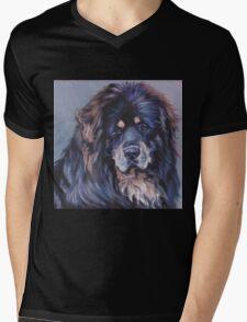Tibetan Mastiff Fine Art Painting Mens V-Neck T-Shirt