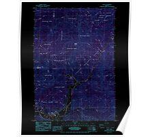 USGS Topo Map Oregon Alsea 278827 1985 24000 Inverted Poster
