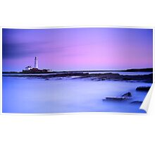 St. Mary's Lighthouse at Dusk Poster