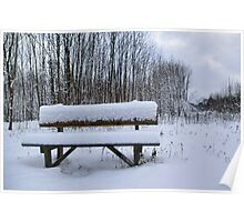 Take a seat in the snow Poster