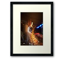 The Sound of a Saxophone - Antwerp Mansion, Manchester Framed Print