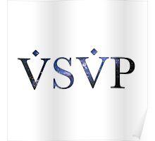 ASAP VSVP DARK BLUE AND BLACK NEBULA Poster
