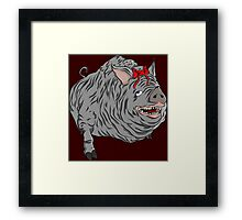 Cutie maneater boar from Bloodborne Framed Print