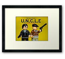 The Man from U.N.C.L.E - Lego Parody Framed Print