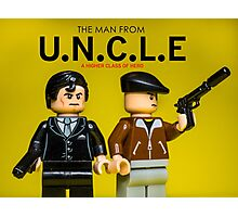 The Man from U.N.C.L.E - Lego Parody Photographic Print