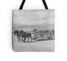 Young Black Team In Unison Tote Bag