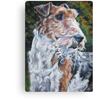 Wire Fox Terrier Canvas Print