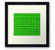 QUANTUM FIELDS ABSTRACT [2] GREEN [1] Framed Print