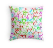 Colourful HeArts  - JUSTART © Throw Pillow