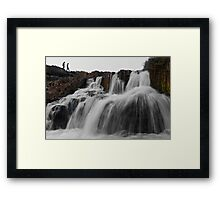 Bhatinda Water Fall Framed Print