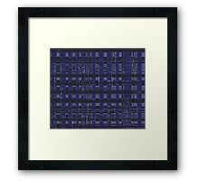 QUANTUM FIELDS ABSTRACT [2] NAVY+BLACK [1] Framed Print