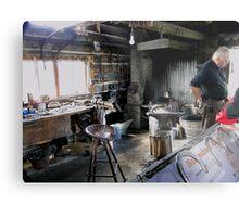 The Blacksmith's Shop Metal Print