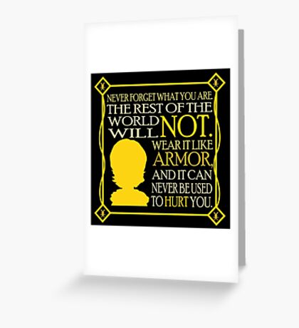 Tyrion's Quote Greeting Card