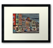 Downtown Dubois Framed Print