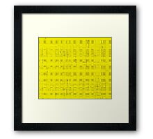 QUANTUM FIELDS ABSTRACT [2] YELLOW [1] Framed Print