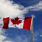 Proudly Canadian At The Bar U by Al Bourassa