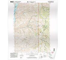 USGS Topo Map Idaho Monroe Butte 237205 2004 24000 Poster